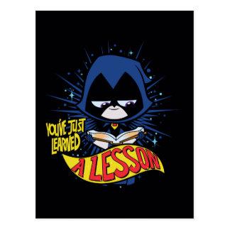 "Teen Titans Go! | Raven ""Learned A Lesson"" Postcard"