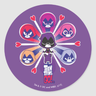 Teen Titans Go! | Raven's Emoticlones Classic Round Sticker