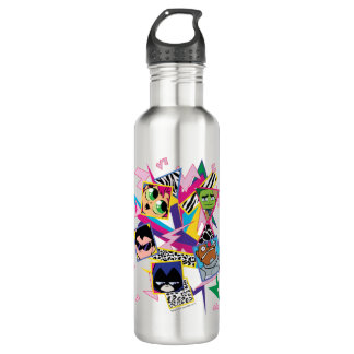 Teen Titans Go! | Retro 90's Group Collage 710 Ml Water Bottle