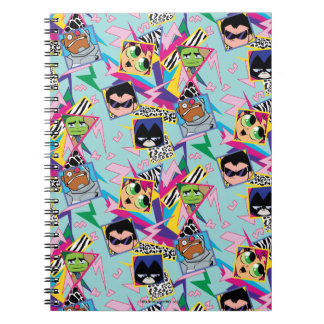 Teen Titans Go! | Retro 90's Group Collage Notebook