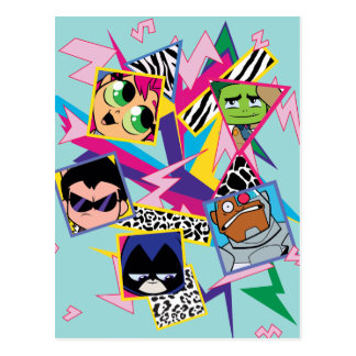 Teen Titans Go! | Retro 90's Group Collage Postcard