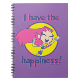 """Teen Titans Go!   Starfire """"I Have The Happiness"""" Notebook"""