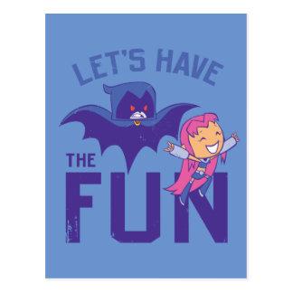 "Teen Titans Go! | Starfire & Raven ""Have The Fun"" Postcard"