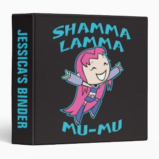 "Teen Titans Go!   Starfire ""Shamma Lamma Mu-Mu"" 3 Ring Binders"