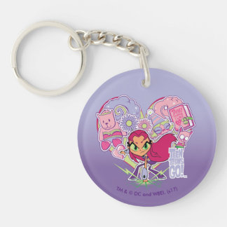 Teen Titans Go! | Starfire's Heart Punch Graphic Keychain