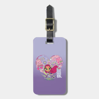 Teen Titans Go!   Starfire's Heart Punch Graphic Luggage Tag