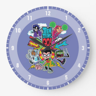 Teen Titans Go! | Team Arrow Graphic Large Clock