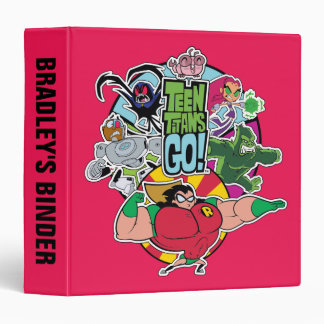 Teen Titans Go!   Team Group Graphic 3 Ring Binders