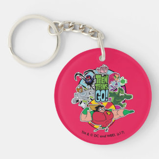 Teen Titans Go! | Team Group Graphic Keychain