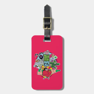 Teen Titans Go!   Team Group Graphic Luggage Tag