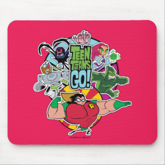 Teen Titans Go! | Team Group Graphic Mouse Pad