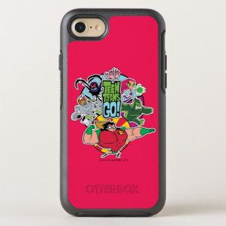 Teen Titans Go! | Team Group Graphic OtterBox Symmetry iPhone 8/7 Case