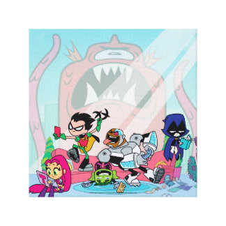 Teen Titans Go! | Tentacled Monster Approaches Canvas Print
