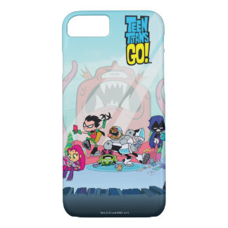 Teen Titans Go! | Tentacled Monster Approaches iPhone 8/7 Case