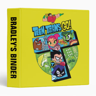 Teen Titans Go! | Titans Tower Collage 3 Ring Binders