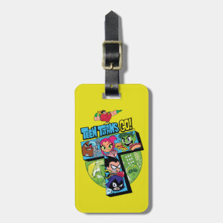 Teen Titans Go! | Titans Tower Collage Luggage Tag