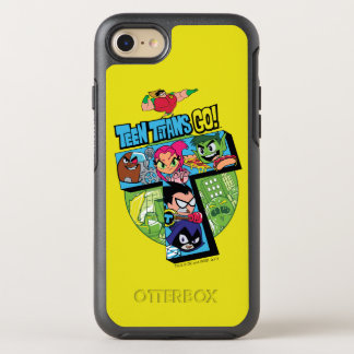 Teen Titans Go! | Titans Tower Collage OtterBox Symmetry iPhone 8/7 Case