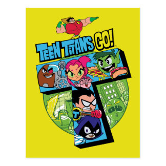 Teen Titans Go! | Titans Tower Collage Postcard