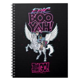 Teen Titans Go! | Warrior Cyborg Riding Pegasus Spiral Notebook