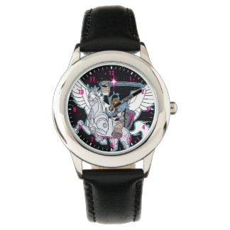 Teen Titans Go! | Warrior Cyborg Riding Pegasus Watch