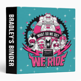 "Teen Titans Go!   ""We Ride"" Retro Moto Graphic 3 Ring Binder"