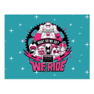 "Teen Titans Go!   ""We Ride"" Retro Moto Graphic Postcard"