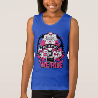 "Teen Titans Go! | ""We Ride"" Retro Moto Graphic Tank Top"