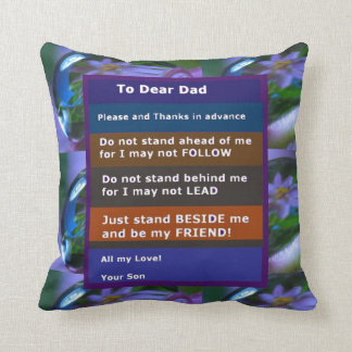 TEEN  to DAD: FUNNY SERIOUS inspiration LOWPRICE Pillows