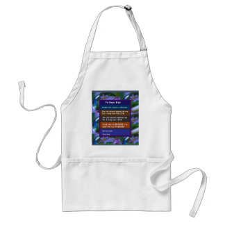 TEEN  to DAD: FUNNY SERIOUS inspiration LOWPRICE Standard Apron