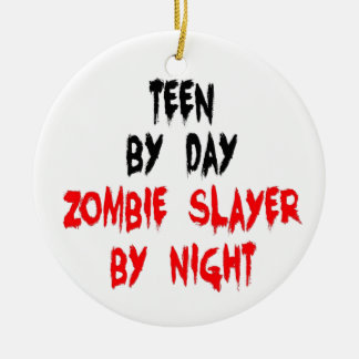 Teen Zombie Slayer Ceramic Ornament