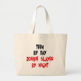 Teen Zombie Slayer Large Tote Bag