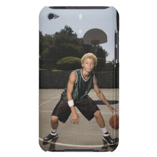 Teenage boy on basketball court barely there iPod cases