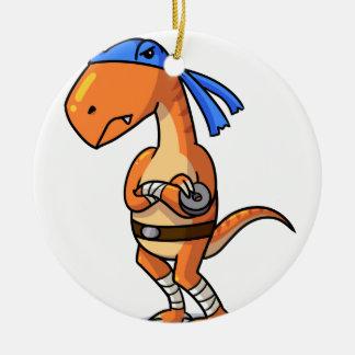 Teenage mutant ninja Raptor! Round Ceramic Ornament