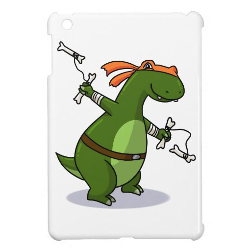 Teenage mutant ninja T-rex! Cover For The iPad Mini
