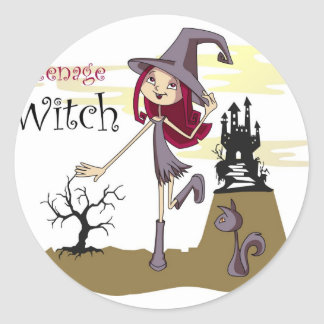 Teenage Witch Classic Round Sticker
