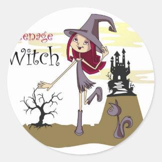 Teenage Witch Round Sticker