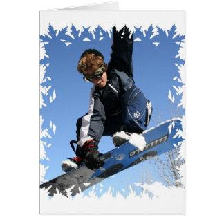 Teenager Snowboarding Greeting Card