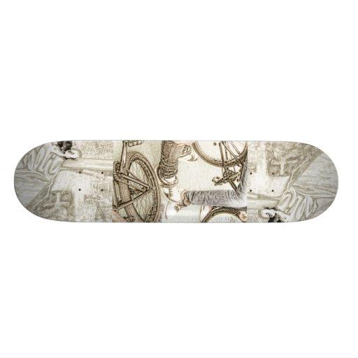 teenagers and bikes skateboard