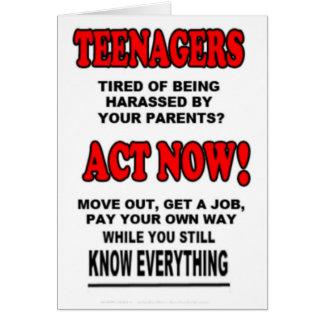 Teenagers Card
