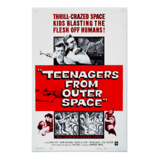 Teenagers from Outer Space Vintage Movie Poster