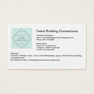 Teens Building Connections Business Cards