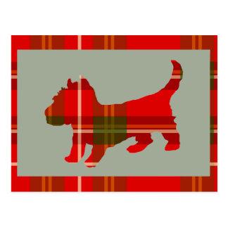 Teeny Tartan Doggie Postcard! Postcard