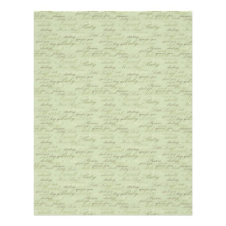 Teeny Toes GRN Dual Sided Scrapbook Paper