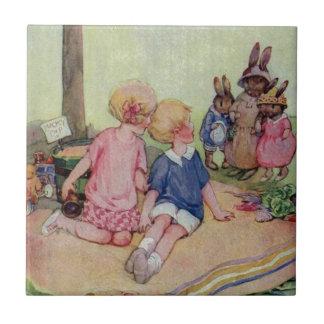 Teeny Weeny Bunny Family Tile