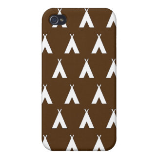 teepee brown iPhone 4/4S cases