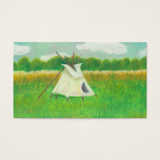 Teepee central Minnesota landscape drawing tipi Business Card