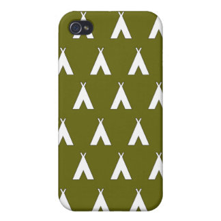 teepee green 2 iPhone 4/4S covers