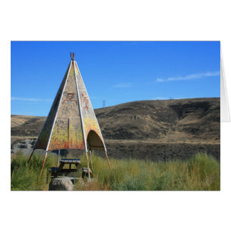 Teepee in Eastern Washington Card