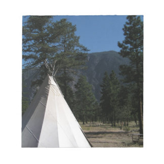 Teepee in the mountains notepad