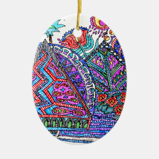 TEEPEE TOWN CERAMIC OVAL ORNAMENT